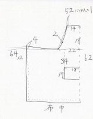 エプロン 型紙 カフェ